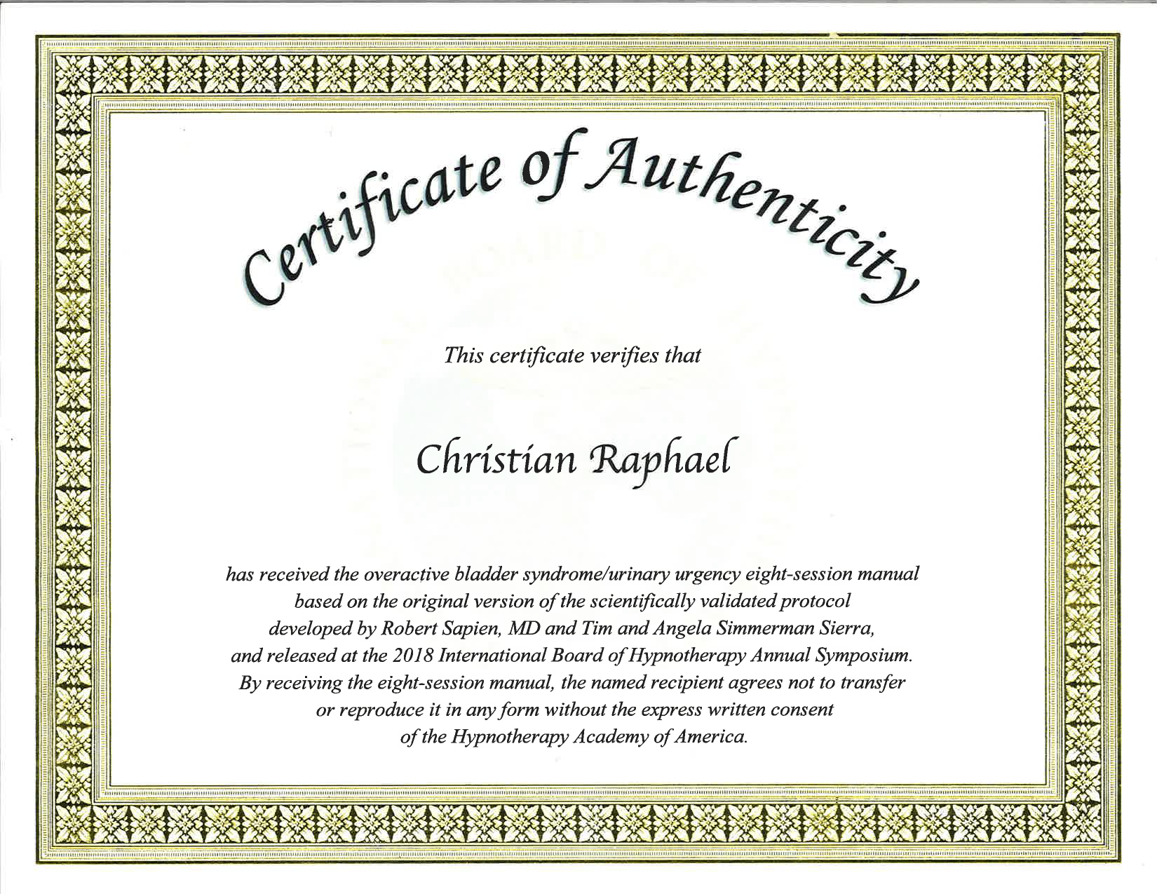 Oab And Urinary Urgency Hypnotherapy Certification Christian
